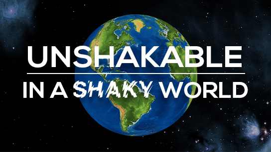What to do in a Shaky World